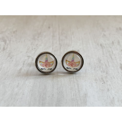 Unicorn Stud Earrings - Gold Arrow Studios