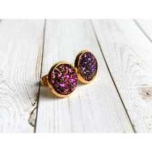 Load image into Gallery viewer, Universe Druzy Studs - Stud Earrings