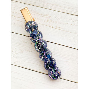 Wish Upon A Star Glitter Clip - Scallop - Clip