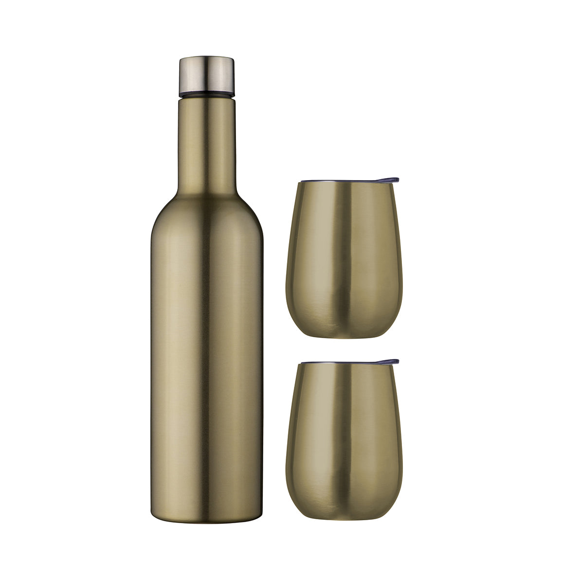 Double Wall Insulated Wine Traveller Set Champagne
