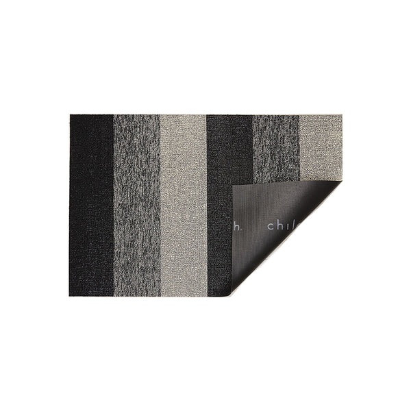 Shag Doormat Marbled Stripe Salt & Pepper
