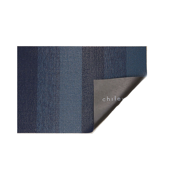 Shag Floor Mat Marbled Stripe Bay Blue