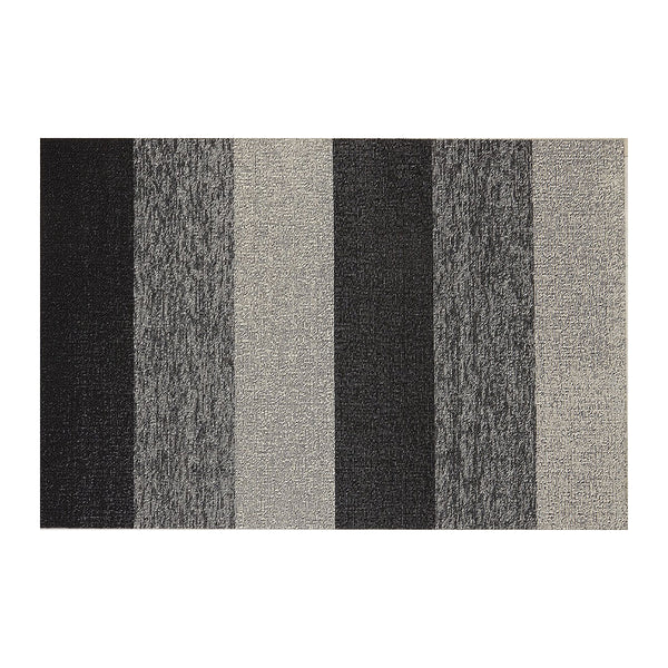 Shag Floor Mat Marbled Stripe Salt & Pepper