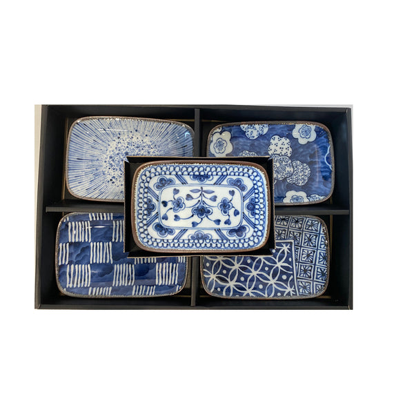 Somekoubou Rectangle Plate / Set 5