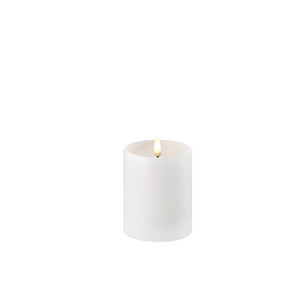 Uyuni Single Wick Pillar Candle Nordic White 5cm x 7.6cm