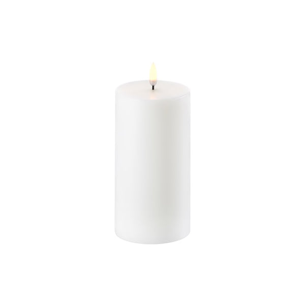 Uyuni Single Wick Pillar Candle Nordic White 7.8cm x 15.2cm