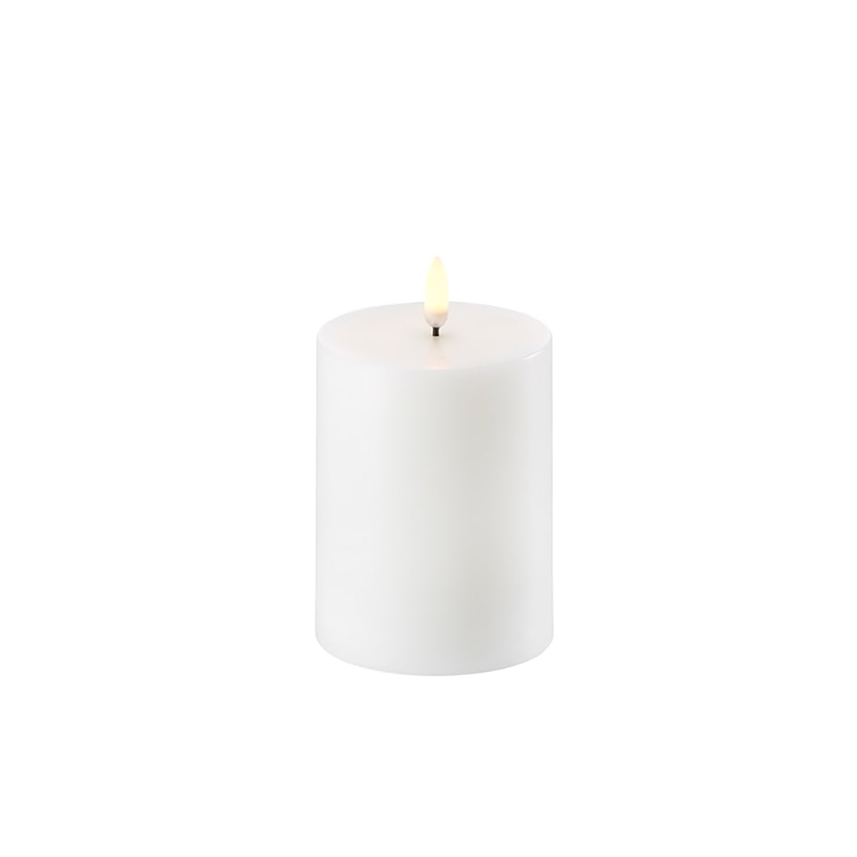 Uyuni Single Wick Pillar Candle Nordic White 7.8cm x 10.1cm