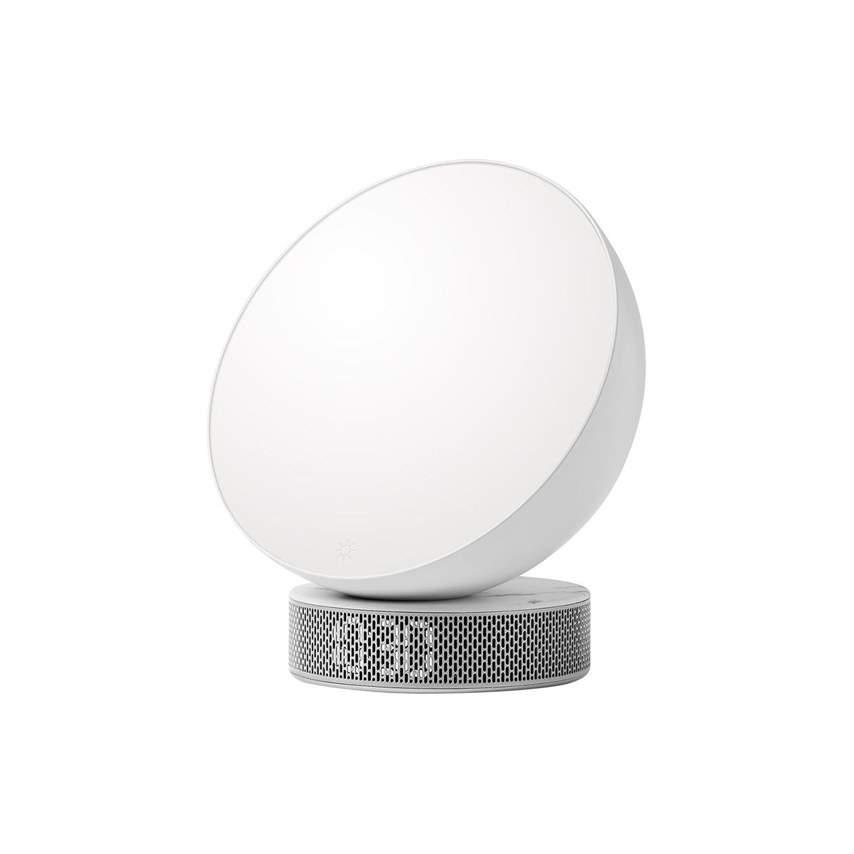 Miami Sunrise Alarm Clock White Marble