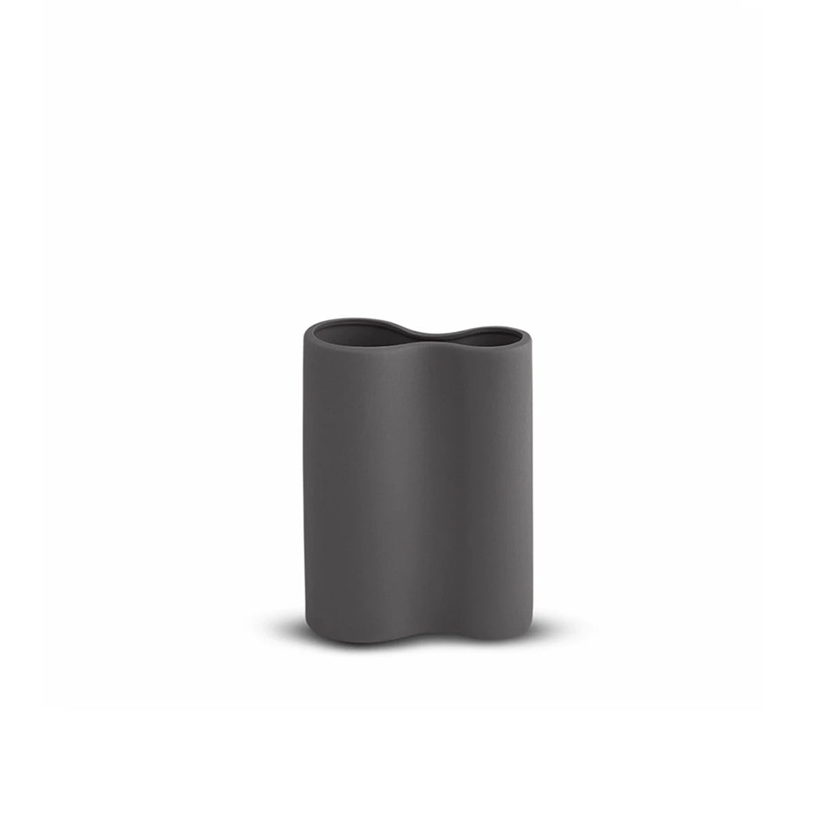 Smooth Infinity Vase Small Charcoal