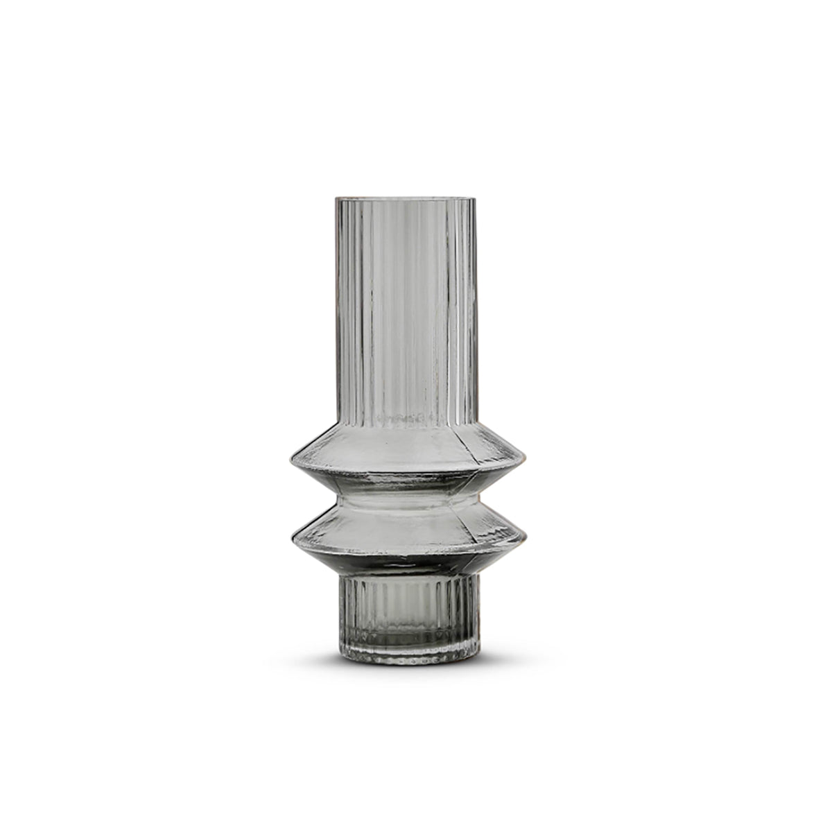 Memphis Storm Vase Small Grey