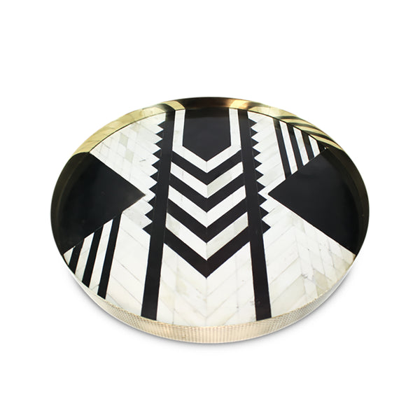 Tribe Bone Inlay Tray Large