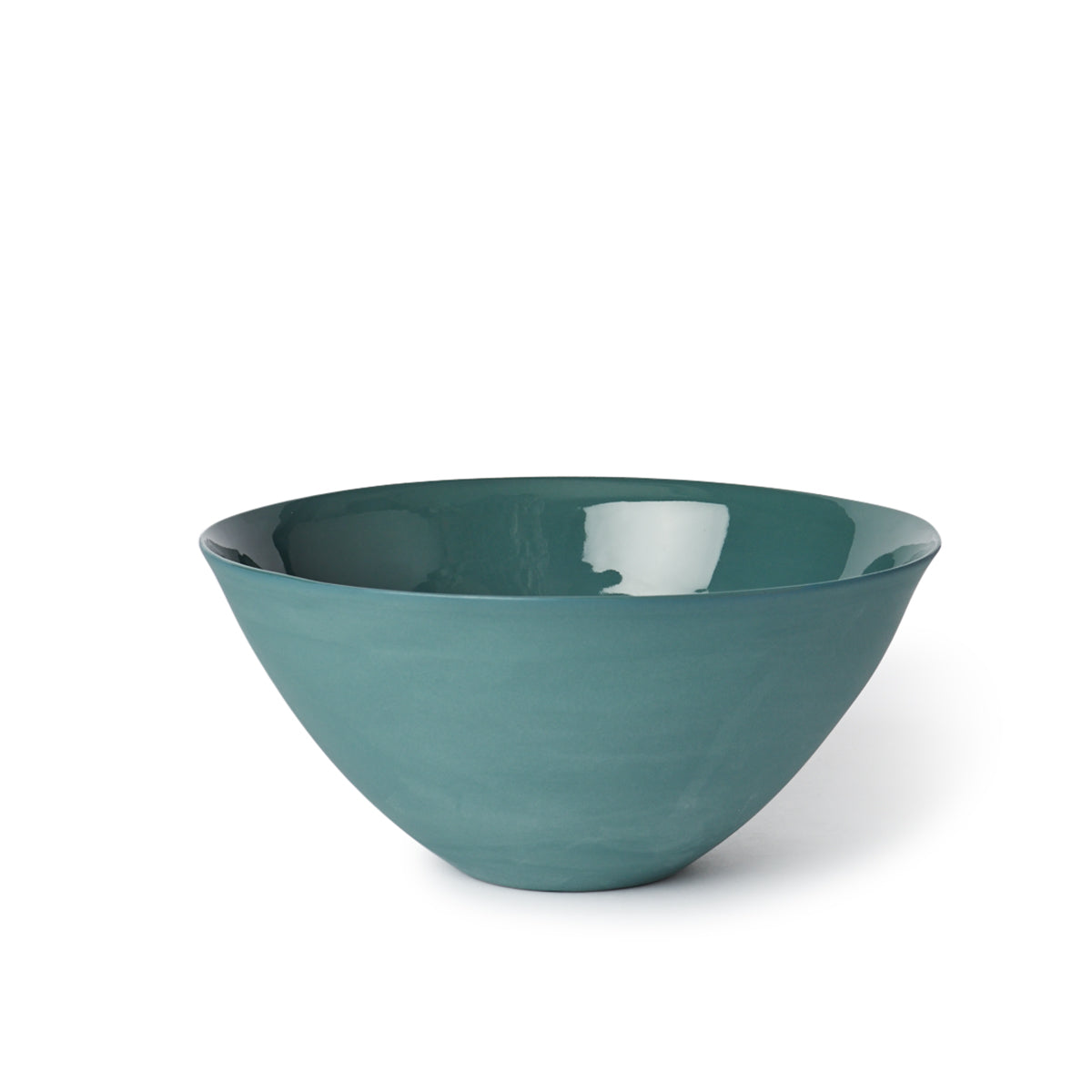 Flared Bowl Large Bottle Green