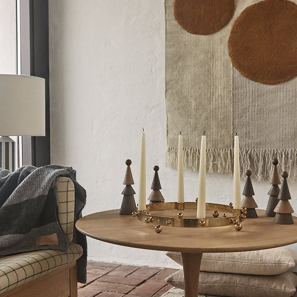 Pearl Advent Brass Candleholder