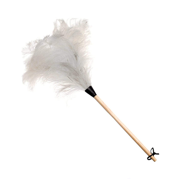 White Ostrich Feather Duster 70cm