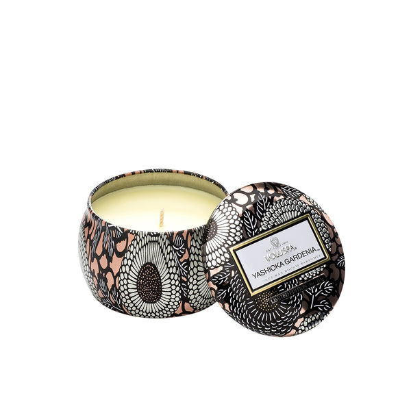 Petite Decorative Tin Candle Yashioka Gardenia