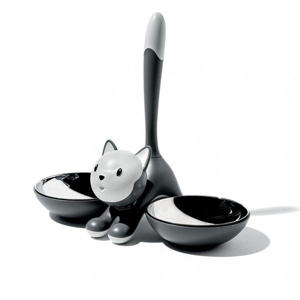 Tigrito Cat Bowl Black