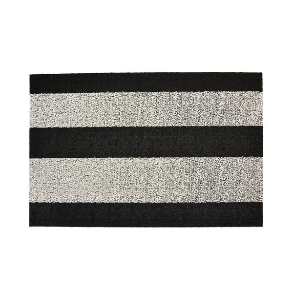 Black and White Shag Doormat