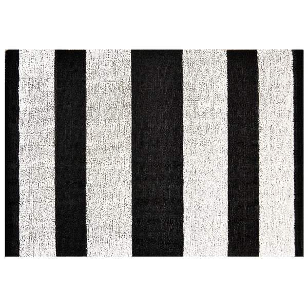 Black and White Shag Floor Mat