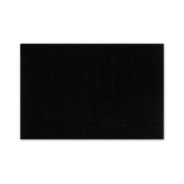 Shag Doormat Solid Black
