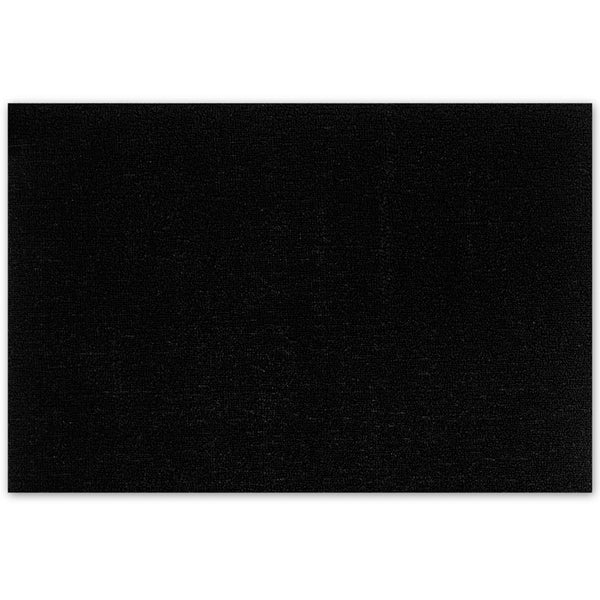Shag Floor Mat Solid Black