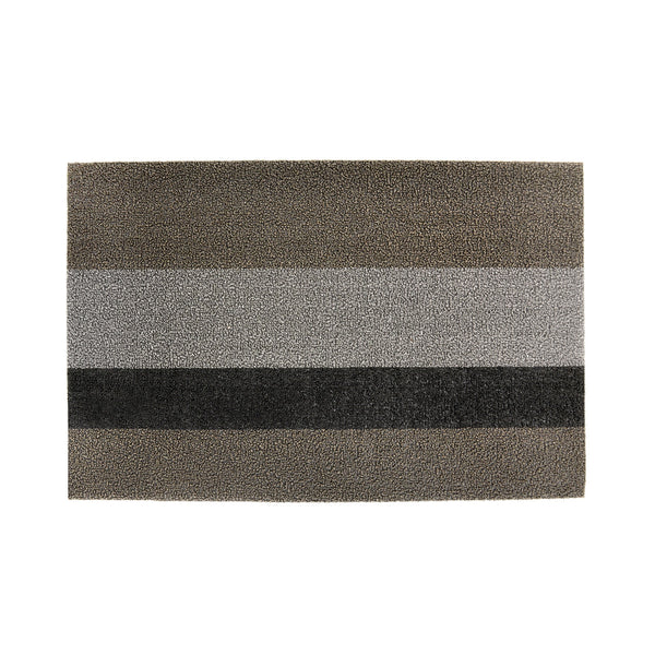 Silver Black Stripe Doormat