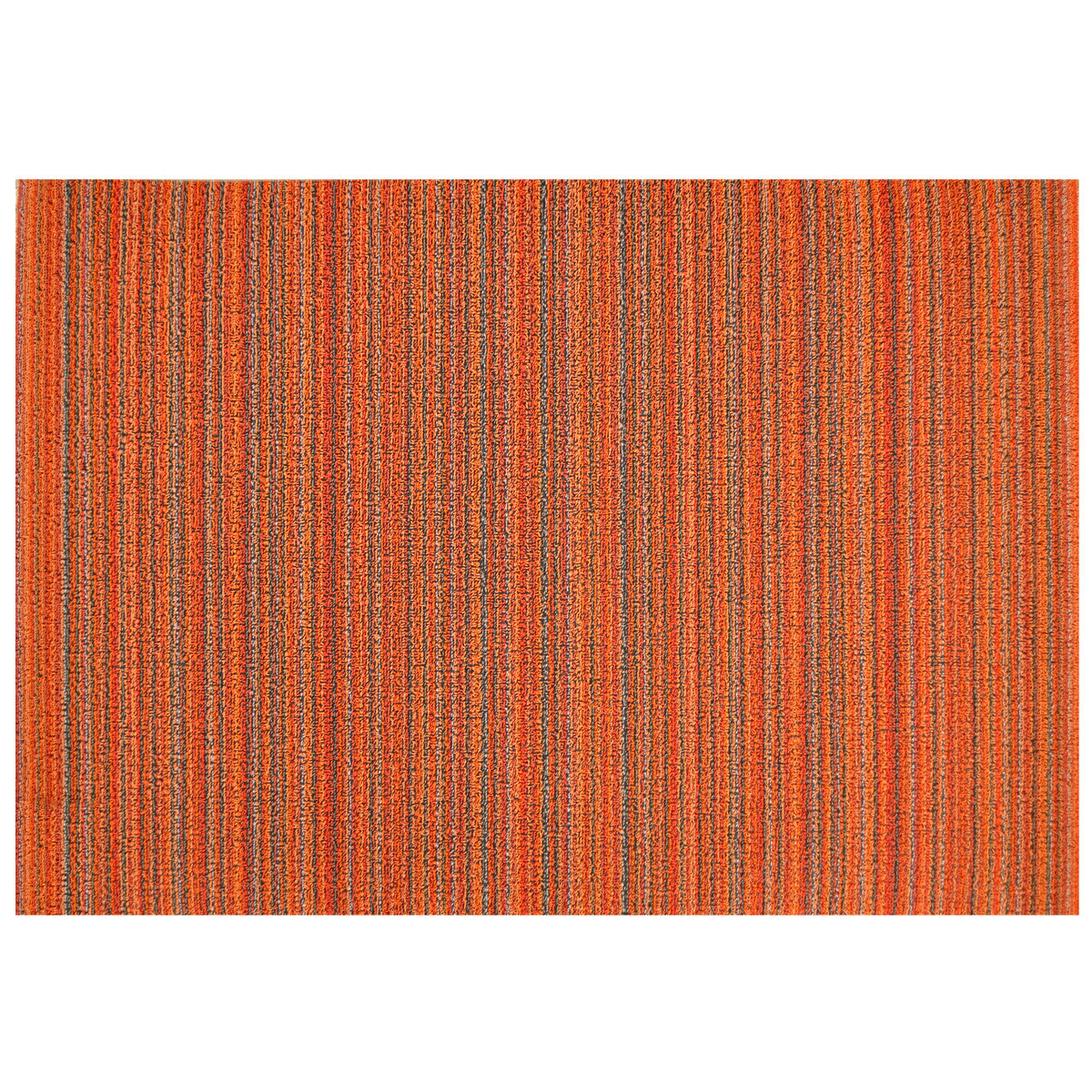 Skinny Stripe Shag Orange Floor Mat