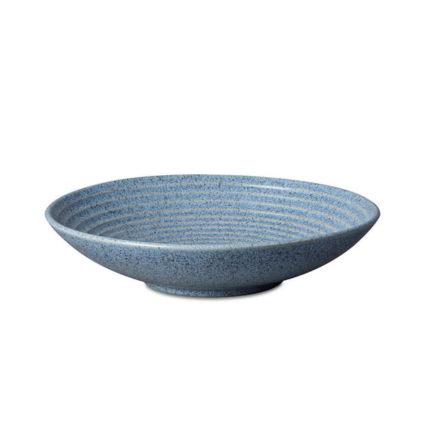 Studio Blue Ridged Bowl Large Flint