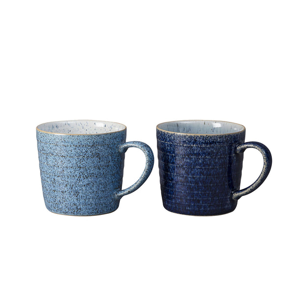 Studio Blue Ridged Mugs / Set 2