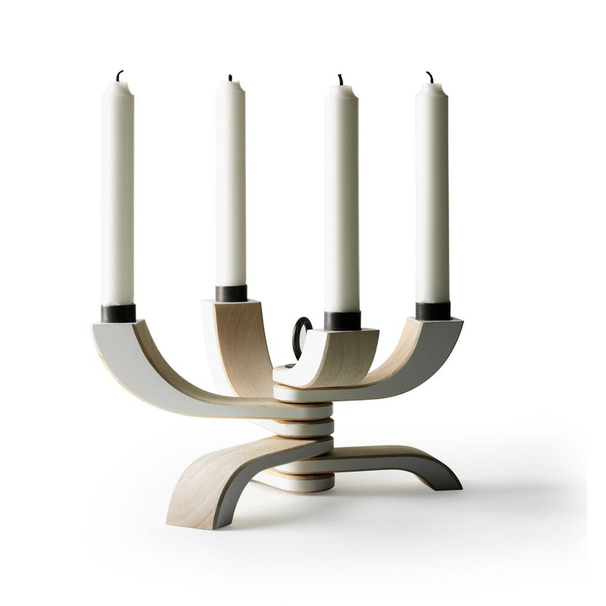 Nordic Light 4 arm Candleholder White