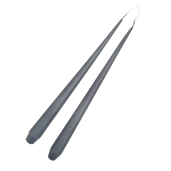 Taper Candle 32cm Dark Grey / Set 12