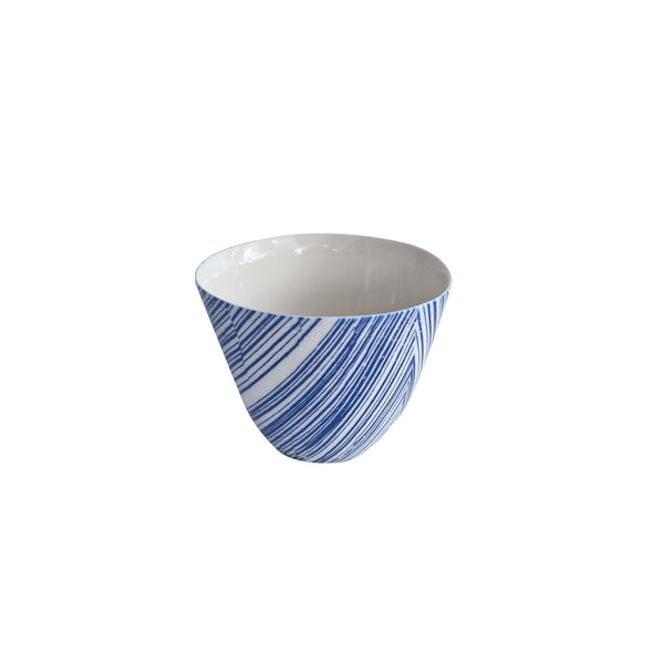 Floral Blue Bowl Round 65 x 95 mm