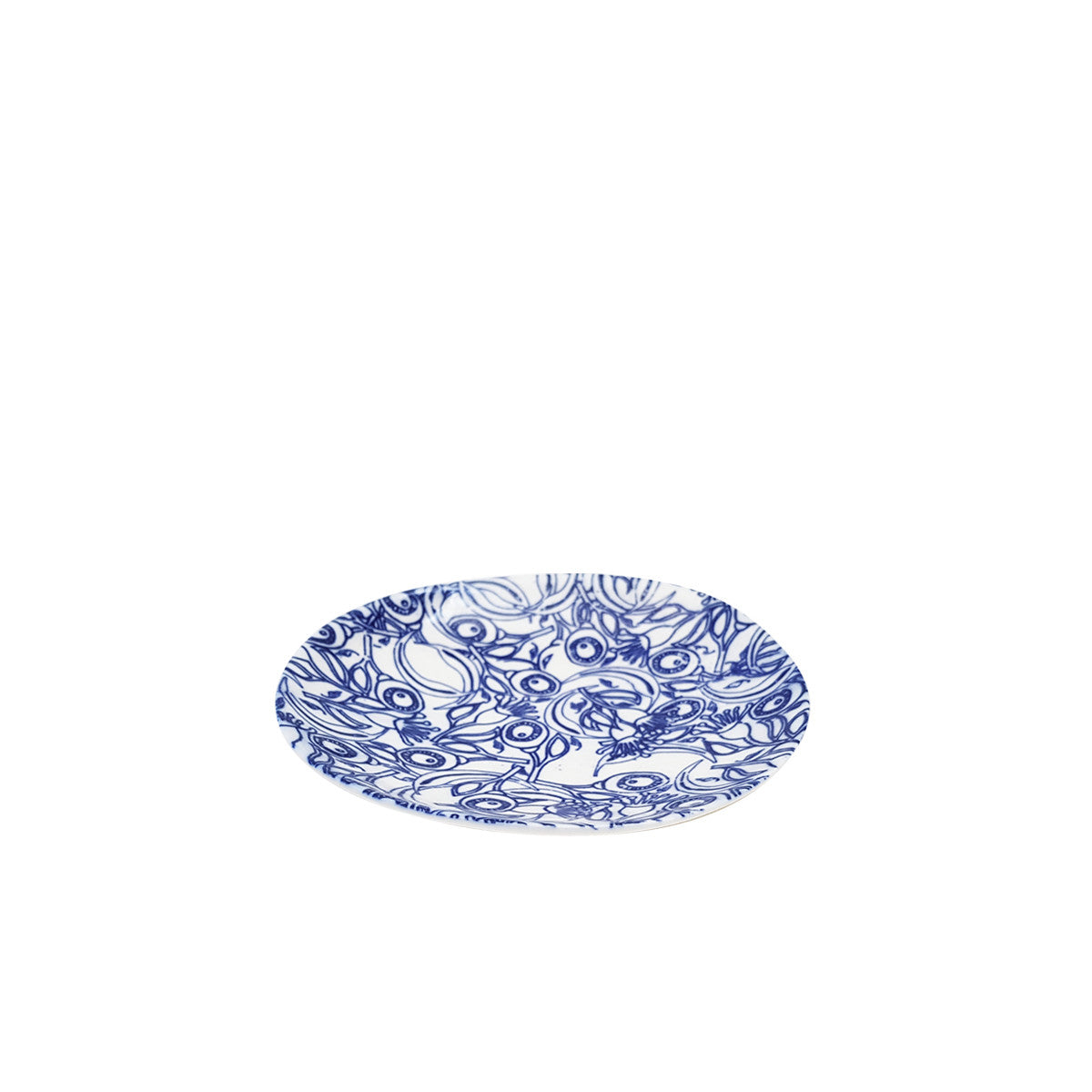 Floral Blue Small Round Plate 12cm