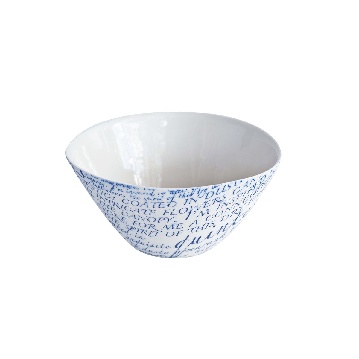 Floral Blue Triangle Bowl
