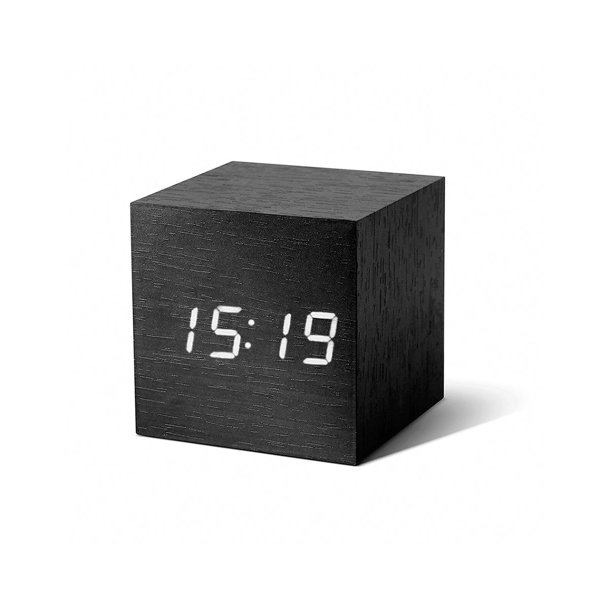 Cube Click Clock Black / White LED
