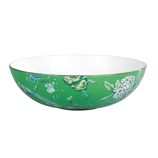 Chinoiserie Green Serving Bowl 30cm