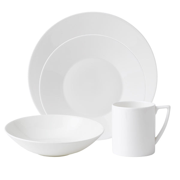 Jasper Conran for Wedgwood White 16pce Dinnerset
