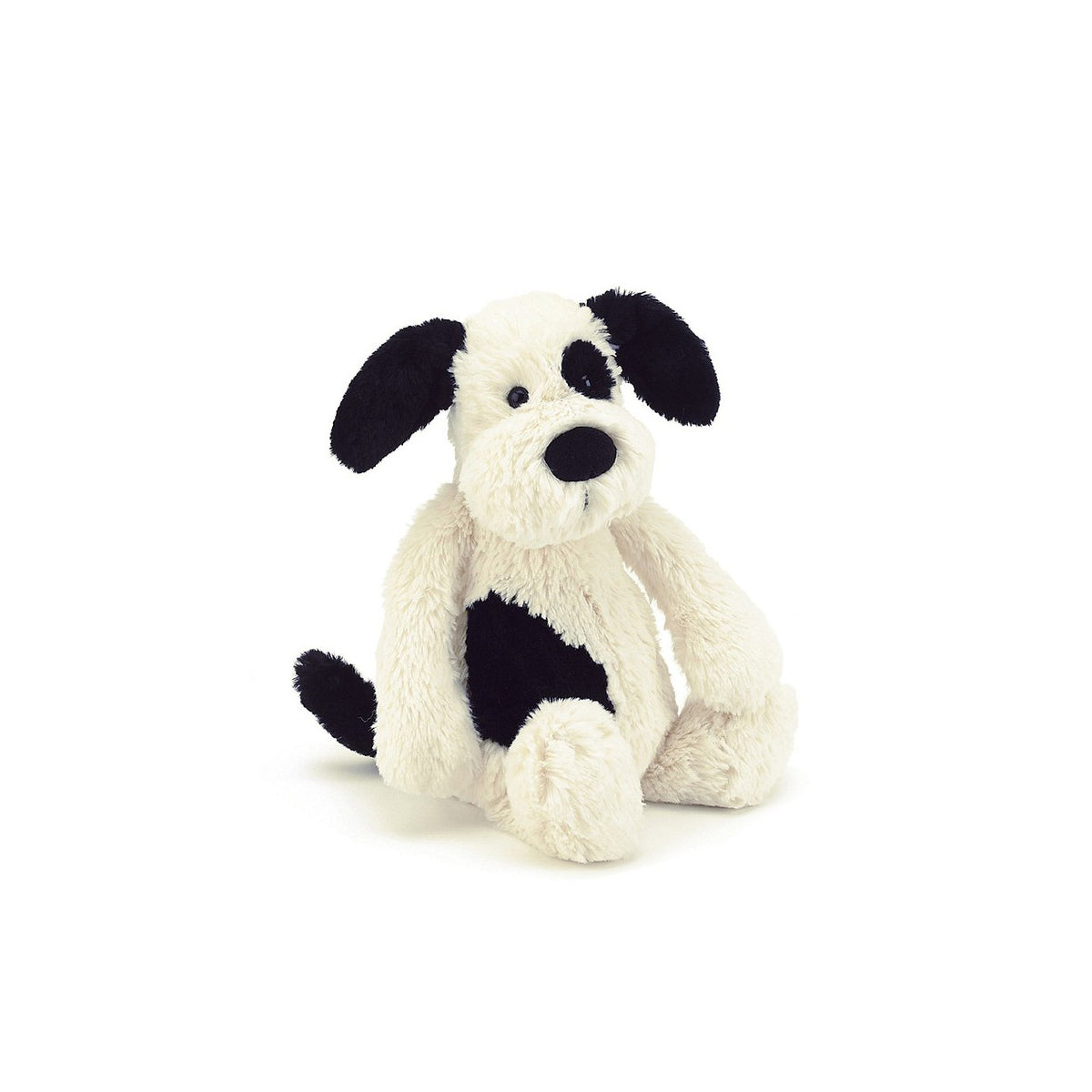 Bashful Black & Cream Puppy Medium