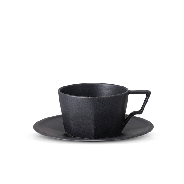 Oct Cup & Saucer 220ml Black