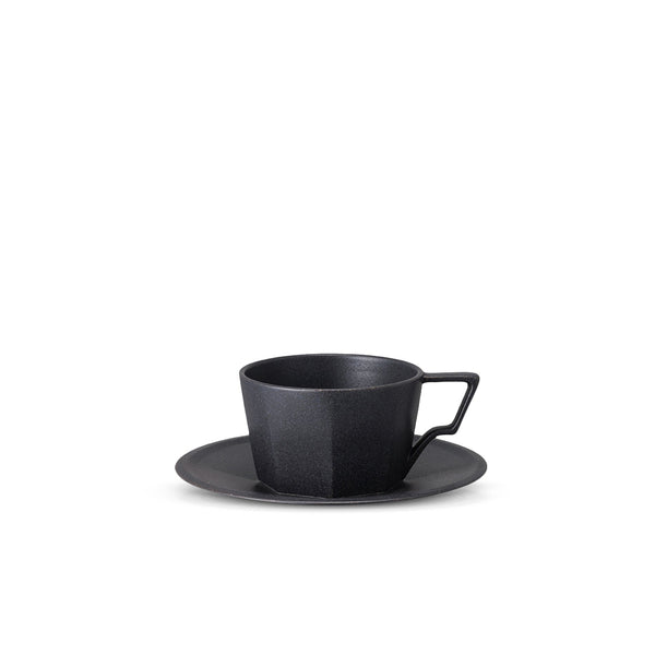 Oct Cup & Saucer 80ml Black