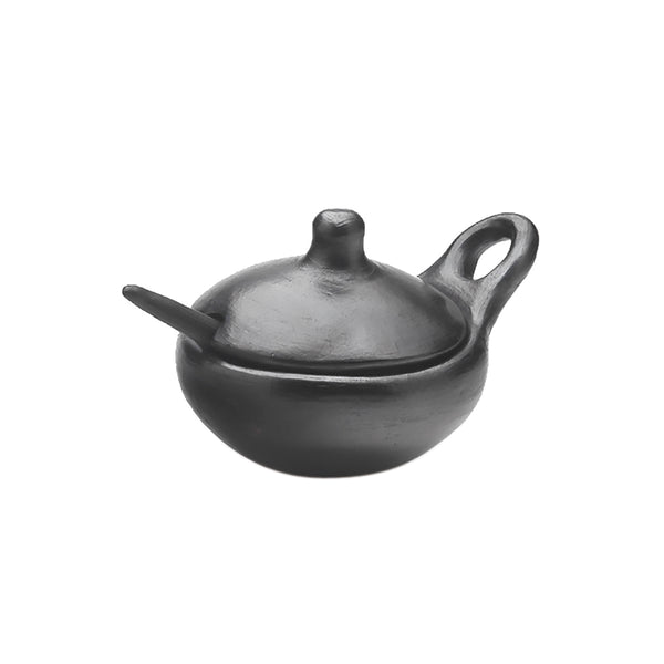 Sauceboat with Lid and Spoon 15cm