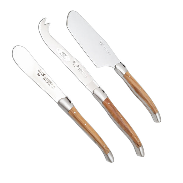 3 pc Cheese Knife Set Juniper Wood