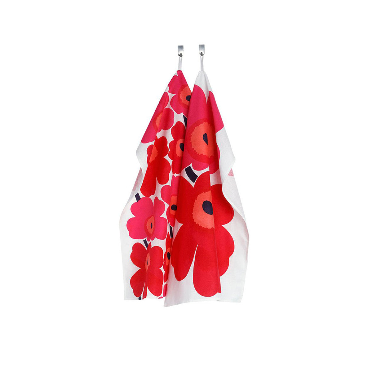 Unikko Kitchen Towel Red / Set 2