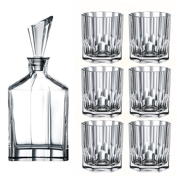 Aspen Double Old Fashioned Whisky Set / 7 pcs