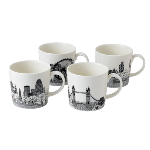 Charlene Mullen London Calling Mugs Boxed / Set 4