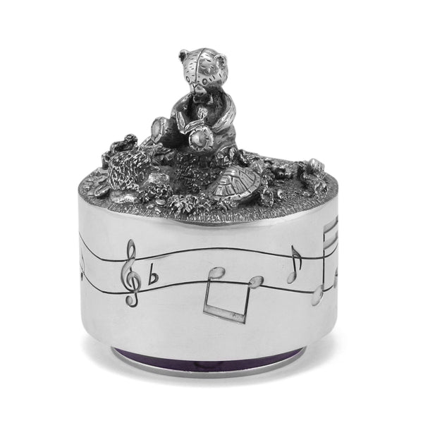 Carousel Pewter Music Box