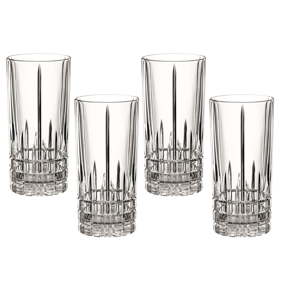 Perfect Serve Long Drink Highball Glasses / Set 4