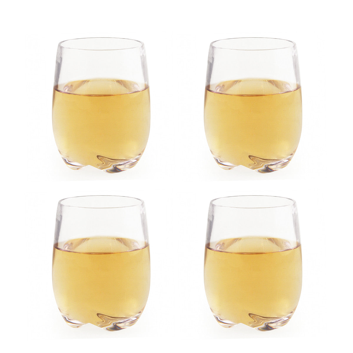 Stemless Polycarbonate White Wine Glasses / Set 4