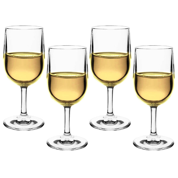 Polycarbonate White Wine Glasses / Set 4