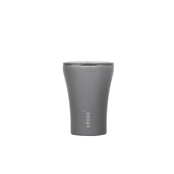 Ceramic Re-Usable Cup Slated Grey 8oz