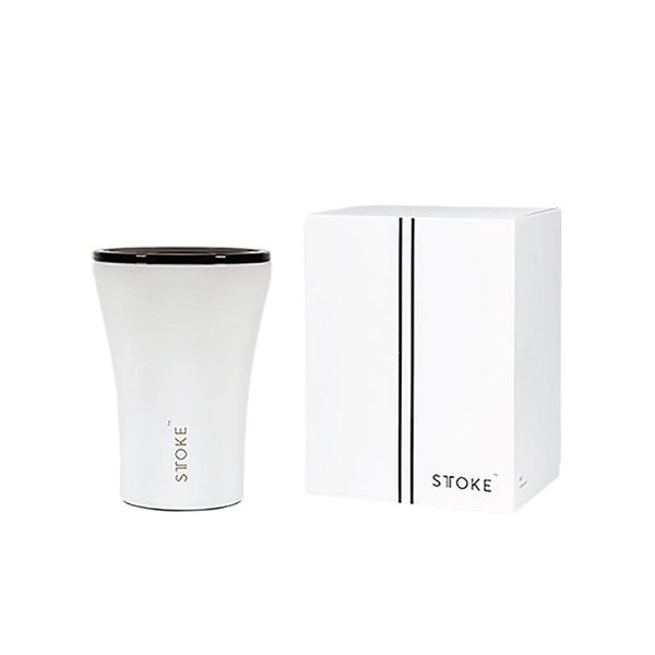 Ceramic Re-Usable Cup White 8oz